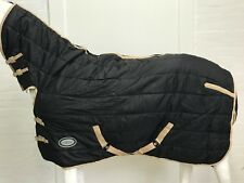 REJECTED NON WATERPROOF 210D BLACK 300G STABLE HORSE COMBO 5' 9