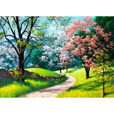 500 Pieces Adult Puzzle Spring Flower Trees Forest Jigsaw Educational Toys Gift