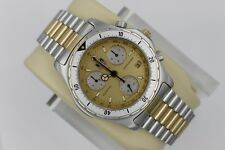 Tag Heuer 2000 GOLD 575.406 SILVER Professional Watch Mens Chronograph CE1121 SS