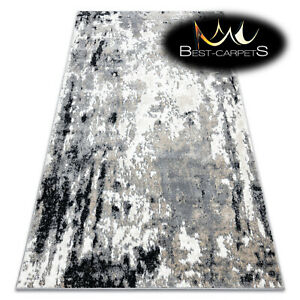 Modern Designer cheap Rug POLI Abstraction GREY Soft & Comfortable Best Quality