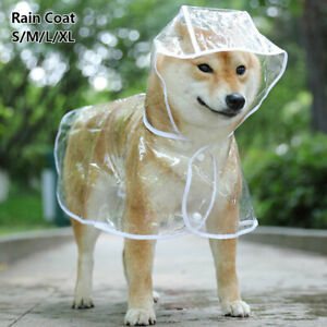 Waterproof Cute Puppy Clothes Outdoor Jacket Coat Pet Dog Hooded Rain Coat ⭐