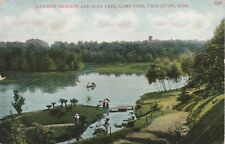 TWIN CITIES, MN~JAPANESE GARDENS,COSY LAKE~EARLY POSTCARD