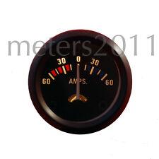 "2"" Ammeter 60-0-60 AMP Meter 12 Volt car boat truck atv - no shunt required"