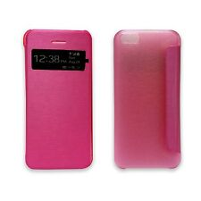 CASE FOR APPLE IPHONE 5C PINK WALLET FLIP VIEW WINDOW PU LEATHER POUCH COVER