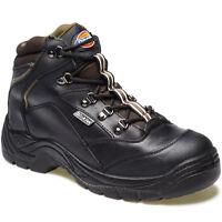MENS DICKIES BERWICK SAFETY WORK BOOTS SIZE UK 6 - 12 STEEL TOE BLACK FA23400