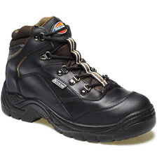 MENS DICKIES BERWICK SAFETY WORK BOOTS SIZE UK 6 - 12 STEEL TOE BLACK FA23400