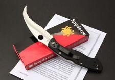 New Spyderco C12GS Fully Serrated Knife G-10 Folding Linerlock Knife