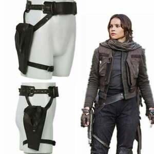 G Handmade Star Wars Cosplay Belt with Leg Gun Holsters,Soldier Straps,Jyn Erso