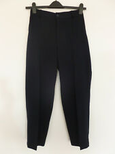 """Trytotalk"" Korean trousers, very dark blue with elasticated back waist"