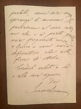 Lettera autografa di Ivanoe Bonomi