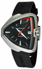 Hamilton Ventura Elvis 80 Asymmetric Black Rubber Strap Men Watch H24551331