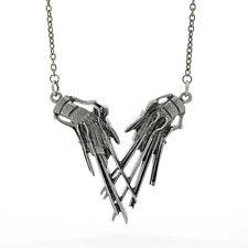 Rock Rebel Edward Scissorhands Claws Pendant Pewter Necklace