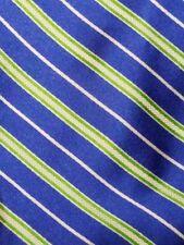 US Polo ASSN 100% Silk Designer Mens Neck Tie Blue White Green EUC