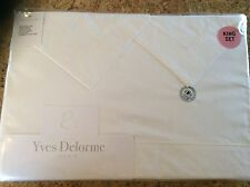 Yves Delorme PARIS,FRANCE Percale King Sheet 4 Piece Set New Factory wrap White