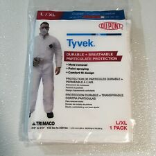 Two 2 Tyvek Size L Xl Protective Suits Coveralls