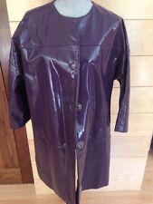 EUC Purple Patent Leather A Line Swing Coat - Size XL