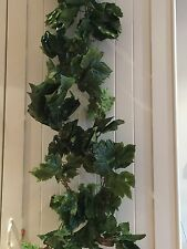 5Pcs 250cm Long Wedding   Grape Leaves Ivy 600 Leaves Artificial Plants