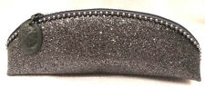 "MAC Silver Glitter Oblong Zippered Cosmetic Bag, 9"" x 3"" x 2"""