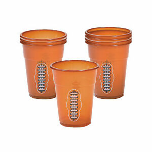 Football Plastic Cups - Party Supplies - 50 Pieces