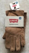 NEW Levi's Mens Medium Pig Suede Leather Winter Gloves with Shearling Lining