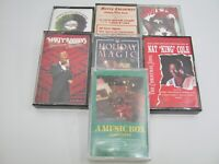 Lot of 7:  Christmas Music Cassettes Nat King Cole Marty Robbins (3 New, 4 Used)