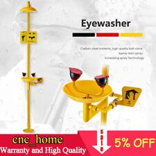 Coating Combination Shower Station and Eye Wash Eyewash Station 304 SS + ABS