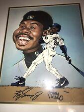 New listing Ken Griffey Jr Autographed Limited Edition Cel Toon Art Sam Viviano Framed