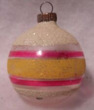 Vintage Unsilvered Christmas Tree Ornament Glass 40s WW2 Era