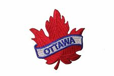 OTTAWA RED MAPLE LEAF IRON-ON PATCH CREST BADGE . SIZE : 2.5 X 2.5 INCH..NEW