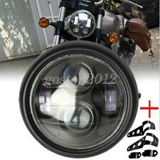 6.5 inch Black Motorcycle Headlight LED Daymaker Hi/Lo Light Lamp Bulb+ Bracket
