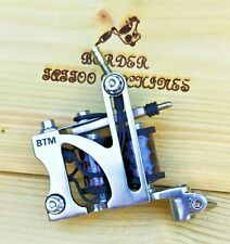 """FINE-LINER"" (NICKEL PLATED) BORDER TATTOO MACHINE, CUSTOM  FRAME 8 LAYER COILS"