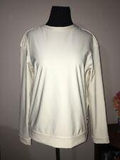 Rare Lululemon White Slouchy Sweatshirt Top Pullover Jacket Zip Back Size 10