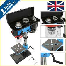 Pillar Drill Press Bench Stand 13-inch 9 Speed Garage Shop Work With Hand Gear
