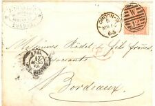 """GB 1865 QV 4D brownish red pl. 4 w hairlines """"EP"""" single postage """"LONDON-W W 12"""""""