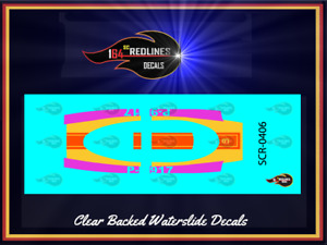 1973 Hot Wheels Redline 'Porsche 917' PORSCHE ORANGE Replica Decal SCR-0405A