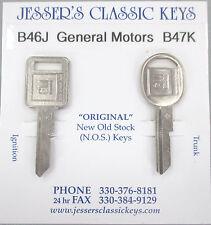 GM Keys J/K NOS Nickel Key Set Cadillac Chevy Olds Pontiac Buick 1970 1974 1978