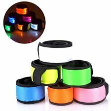Led Night Safety Wristband Perfect for Cycling Walking Running Concert (6 Pack)