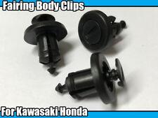 10x Motorbike Cycle Body Frame Fairing Plastic Trim Clips For Honda Kawasaki