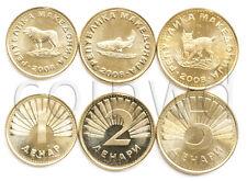 MACEDONIA 3 COINS SET 2008 ANIMALS UNC (#766)