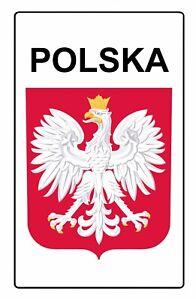 Polska Herb Godlo Polski Poland Metal Aluminium Sign Plaque Patriotyczna Tablica