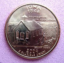 """Etats-Unis B/UNC état américain quart programme 2004 """"IOWA"""" Menthe D"""