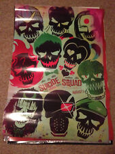Suicide Squad 27x40 Original Theater Double Sided Movie Poster 2016 advance