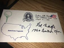 Kel  Nagle 1960 British Open Champ Signed First Day Cover w/COA