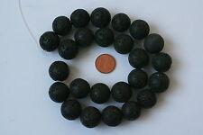 Noir Agate-strang (Boule 20 MM) k-0157/k