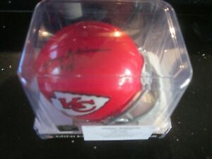 JOHNNY ROBINSON Autographed Kansas City Chiefs Mini Helmet Tristar COA HOF!