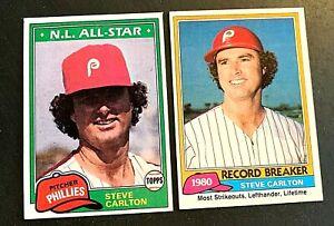 1981 Steve Carlton #202 and #630 - Phillies
