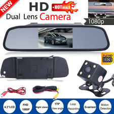 "Car Backup Camera Mirror w/ Rear View System Night Vision + 4.3"" TFT LCD Monitor"