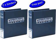 2 x Blue Ultra Pro Collectors Album/Binder 3 Inch 3 Ring - Blue - Free UK Post