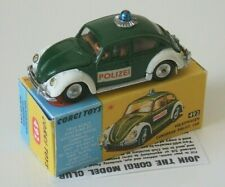 Corgi 492 VW Beetle Polizei European Police Volkswagen Working Roof Steering vgc
