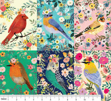 Blend Fabrics Bird Panel 60cm x 110cm, perfect for Quilts, Bunting